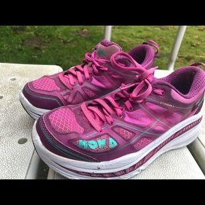 Hoka One Stinson Purple/Pink Sneakers Size 7.5